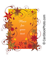 Beautiful orange autumn frame