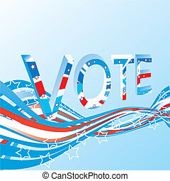 Vote background - USA election patriotic background vector...