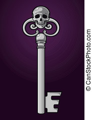 Skeleton Key - This is a vector illustration of a skeleton...