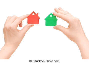 House icon in the hand, Isolated