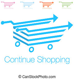 Continue Shopping Icon - An image of a continue shopping...