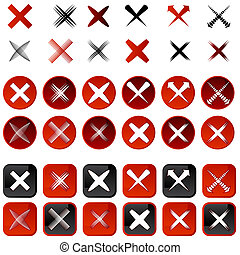 Cancel Icons - An image of a cancel icons