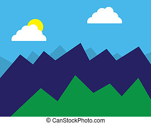 Abstract Forest Mountains