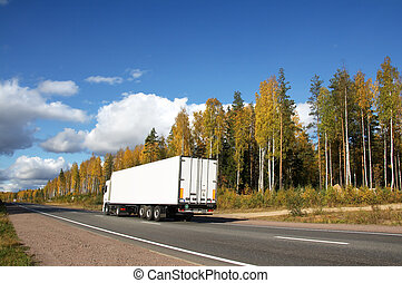 truck and landscape
