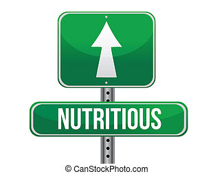 nutritious road sign illustration design
