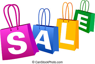 SALE Banner - Concept SALE Banner with Shopping Bags