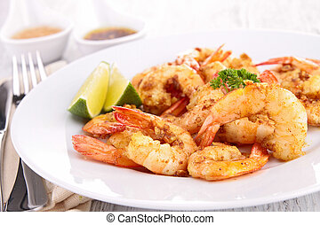 fried shrimp with curry
