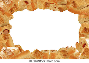 bread frame - Frame of different bread and pastry goods