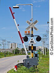 Railroad Crossing in Thailand