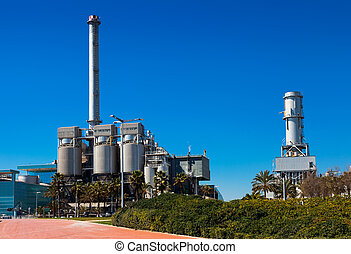 Industry power plant at Barcelona - Industry power plant at...