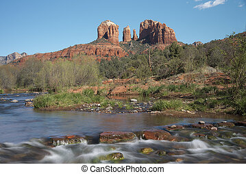 Cathedral Rock Viewed From Red Rock Crossing