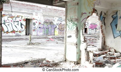 Scary Abandoned Building 11 pan