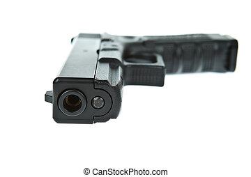 Airsoft, mano, arma de fuego, glock, modelo