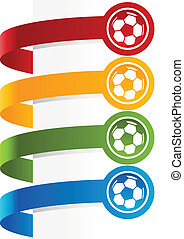 Colorful Soccer Ball Banners