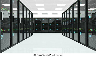 Server Room 1 - CPU Unit Server Room Data Center 3D...