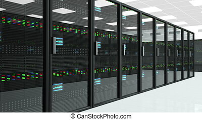 Server Room 3 - CPU Unit Server Room Data Center 3D...