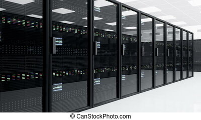 Server Room 4 - CPU Unit Server Room Data Center 3D...