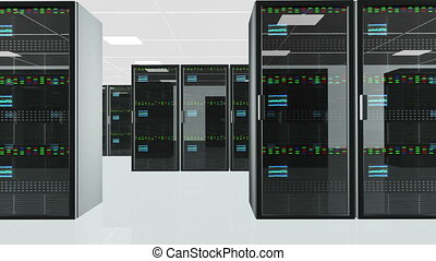 Server Room 5 - CPU Unit Server Room Data Center 3D...