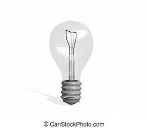 light bulb - 3d illustration light bulb
