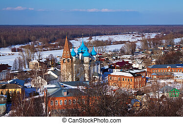 view of Gorokhovets in winter. Russia - Panoramic view of...