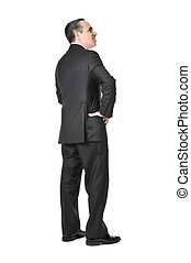 Businessman on white background - Happy businessman in a...