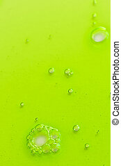 Abstract background with green liquid - Abstract green gel...