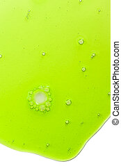 Abstract background with green liquid