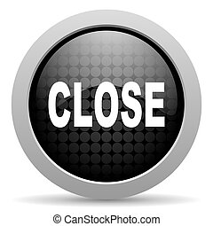 close black circle web glossy icon