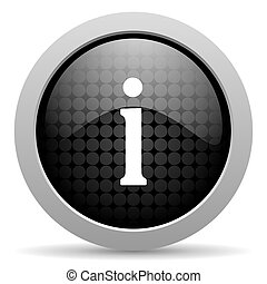 information black circle web glossy icon