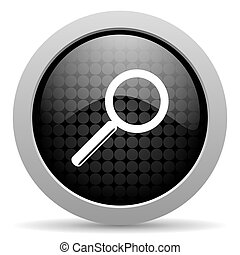 search black circle web glossy icon
