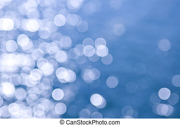 Blue water background - Out of focus bokeh background of...