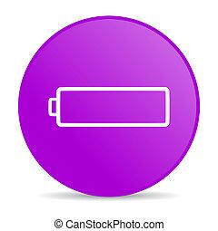 battery violet circle web glossy icon - pink circle glossy...