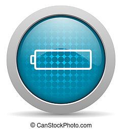 battery blue circle web glossy icon