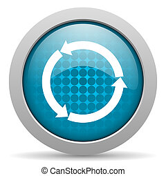 refresh blue circle web glossy icon