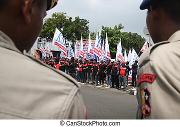 indonesian police - body part - hands of indonesian police...