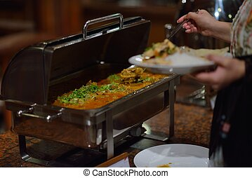 buffet food - catering buffet food indoor in luxury...