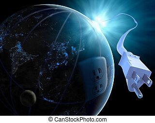 Global solar power. - Global solar power idea.