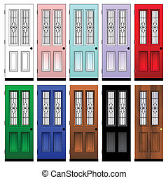 doors - vector set of doors
