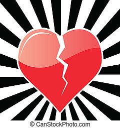 broken heart - vector illustration of a broken heart