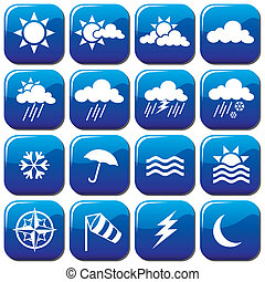 weather icons - vector set of weather icons
