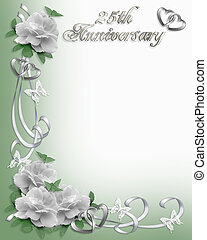 25th Anniversary invitation Border