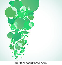 Abstract green bubble EPS 8 vector file included