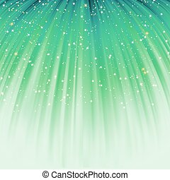 Festive green abstract with stars. EPS 8