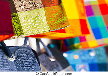 Local craft at souvenir market in Cancun, Mexico.