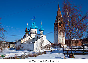 Cathedral at Gorokhovets in winter. Russia