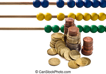 Abacus beads with euro,
