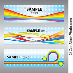 Set of abstract vector backgrounds