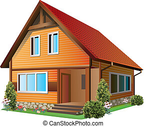 Illustration of house - Vector Illustration of small house...
