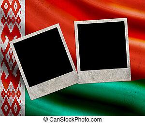 Grunge Belarus flag