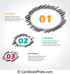 Speech bubble theme infographics design with options